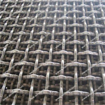 Aluminum clad steel crimped wire mesh