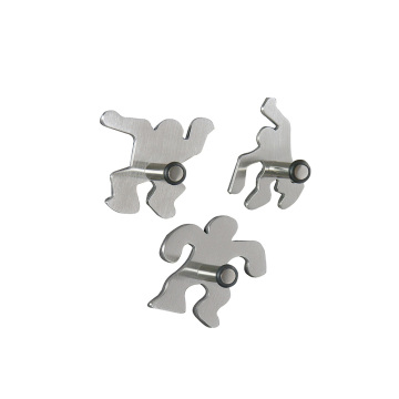 men shape magnetic hook set/4