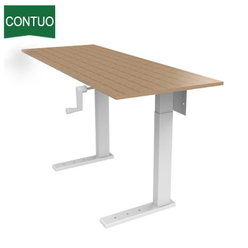 Factory made hot-sale for Manual Hand Crank Desk Manual Automatic Electrical Desk Frame Adjustable export to Saint Lucia Factory