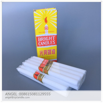 2018 Bright white color candle bougies seling