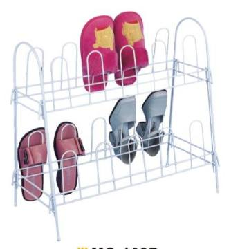 PE Coated 2 Tier Shoe Rack