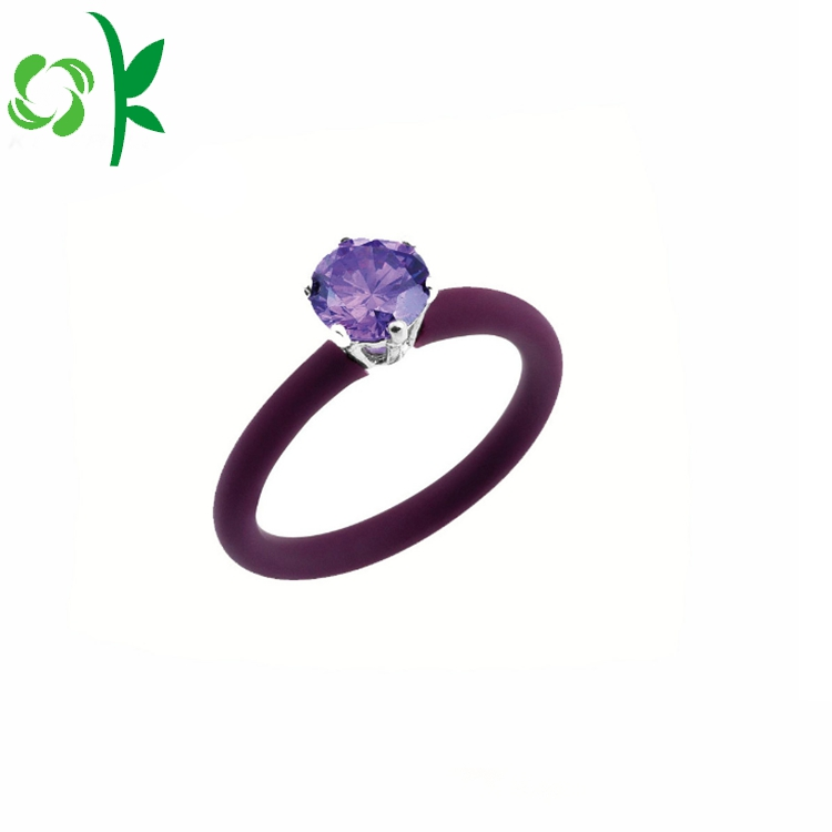 Silicone Ring With Diamond