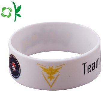 Game White Printed Cartoon Bangles Fashion Silicone Bracelet