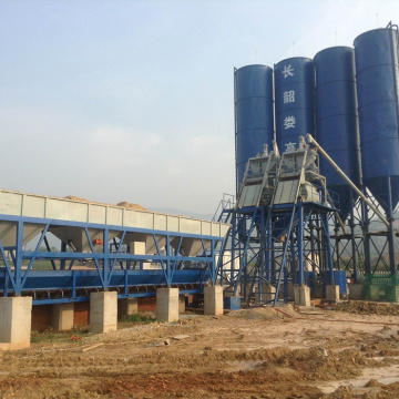 Mini cement 75m3/h concrete batching plant in Russia