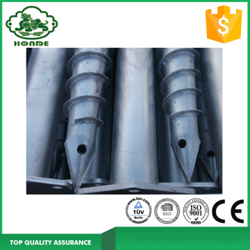 Solar System Ground Screw Piles