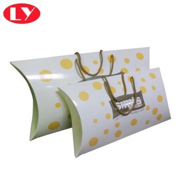 Baby Clothes Packaging Pillow Box with Handle