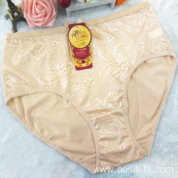 the hottest sale hipster new apricot China cotton sexy plus size panty 3xl 5855