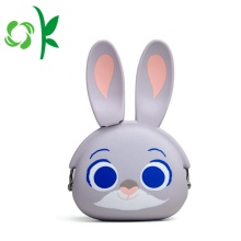 Custom Logo cute Rabbit Silicone Mini Wallet Bag