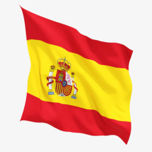 rectangle spain flag sandproof beach towel