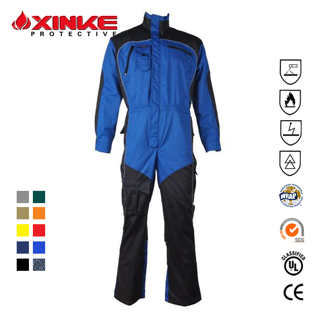 Reflective Fire Resistant Clothing for Petroleum Workers
