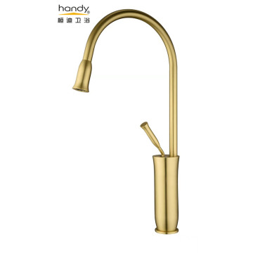 Anitique Golden Brush Kitchen Faucet