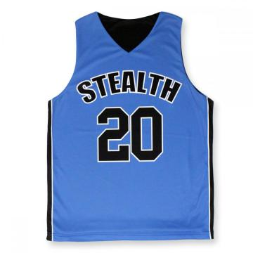 Professional sublimation sleeveless basketball jersey