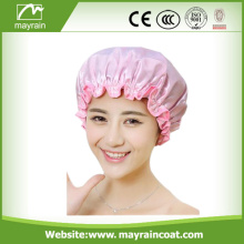 Wholesale Custom Two-Layers Shower Cap