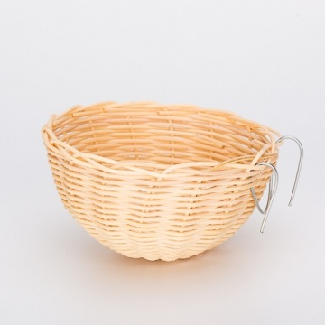Cheap for Rattan Bird House Bowl Shaped Medium Rattan Bird Nest supply to Indonesia Manufacturers