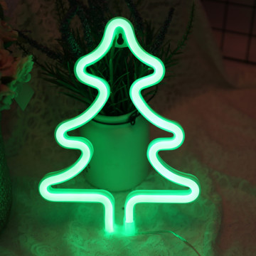 Christmas Trees Neon Sculpture Signs for Sale Green