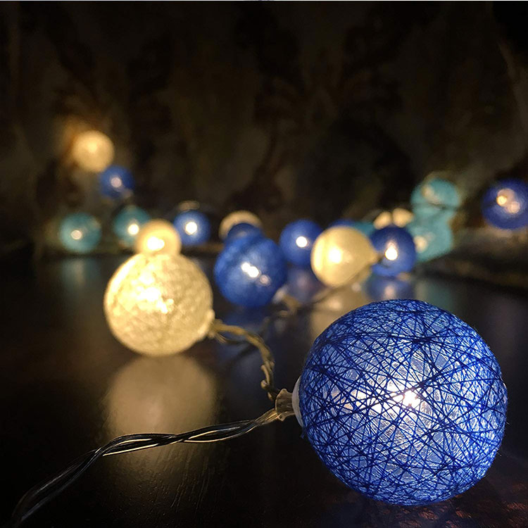 cotton ball led garland