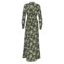 Green Stylish and elegant printed dress