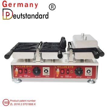 Four slice ice cream Taiyaki making machine