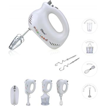 Multifunction FOOD Hand Mixer 3 in 1 chopper whisk cup