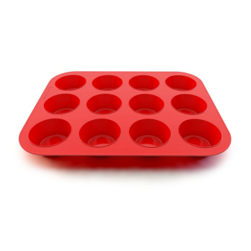 OEM for 12 Cups Silicone Muffin Pans,Large Commercial Muffin Top Pan Manufacturer and Supplier silicone muffin mold and pan 12 cups supply to Brazil Exporter