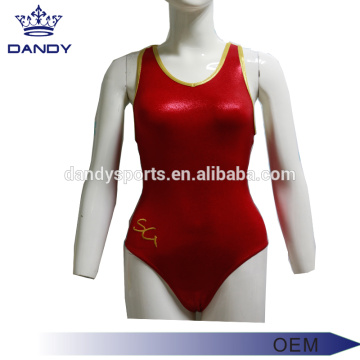 Elegant Metallic Fabric Gymnastics Leotards Sale