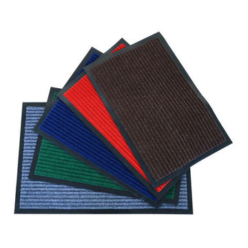 PVC backing waterproof anti-slip double stripe carpet mat