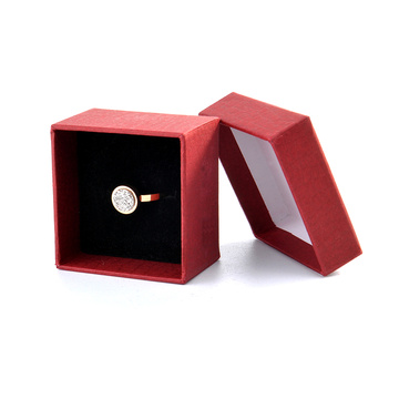 Red Luxury Paper Jewelry Ring Gift Box
