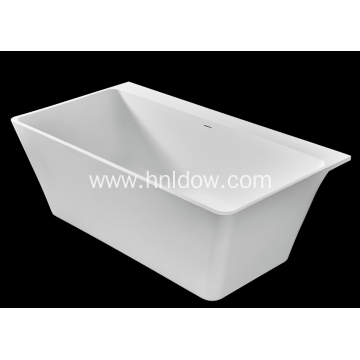 Manufacturing Companies for Indoor Back To Wall Bathtub Pure acrylic stone resin bathtub for bathroom export to Togo Exporter