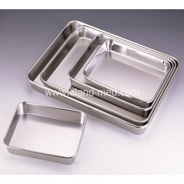 Stainless Steel Full Perforated Silver Square Tray