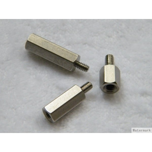M3x20mm 6mm brass zinc plated support