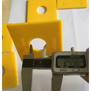 Yellow Plastic ABS Square Washer