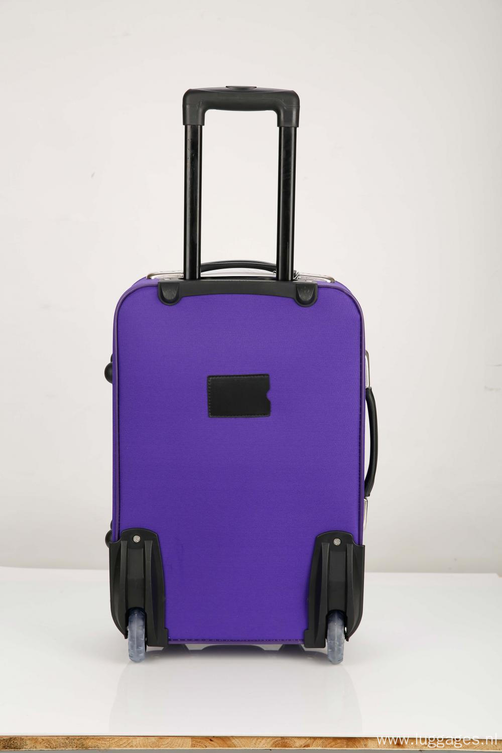 Softsided Rolling Purple Luggage