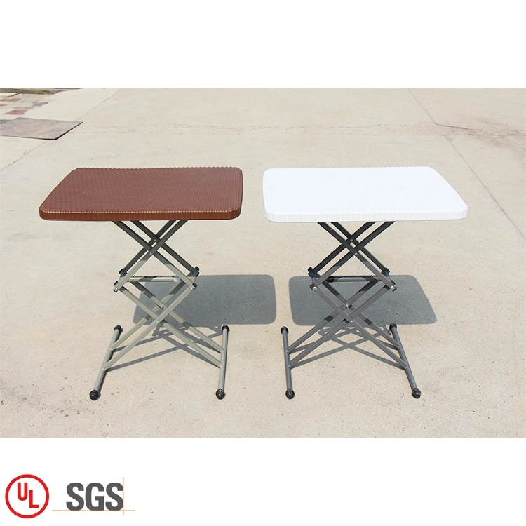 Adjust Height Plastic Dining Table