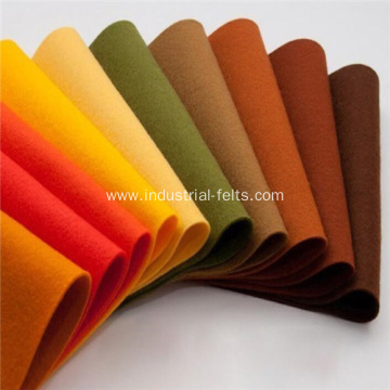 Synthetic Nonwoven Felt Fabric OEM Color