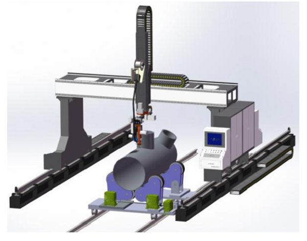 Gantry Welding Robot of Intersecting Lines on Cylindrical Shell and Head (2)