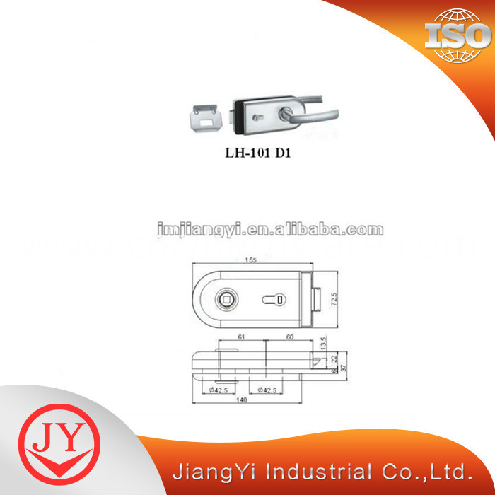lock for glass door stainless steel lock