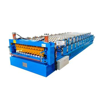 Double Layer Corrugated Profile Steel Roofing Making Machine