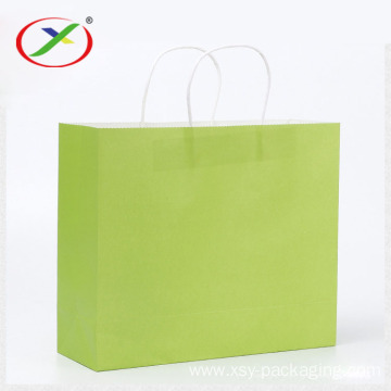 90gsm brown kraft paper shopping bag with handle
