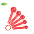 5 Piece Mini Plastic Measuring Spoons Set