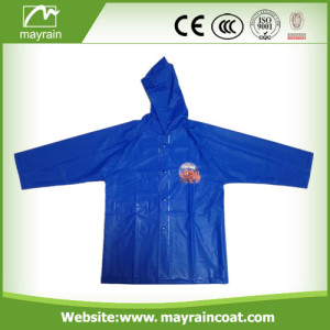 Navy Color PVC Kids Raincoat