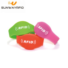OEM manufacturer custom for Closed Type Silicone RFID Wristbands MIFARE® Ultralight® EV1 NFC RFID Silicone Wristband supply to Anguilla Manufacturers
