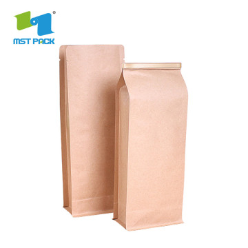Coffee Bag With Degassing Valve And Zipper