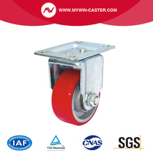 Fixed Top Plate Iron PU Industrial Caster