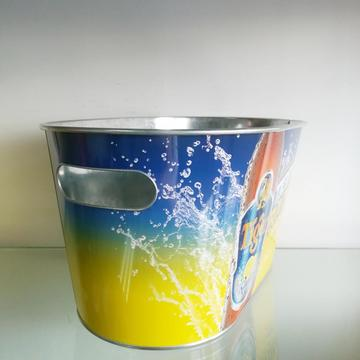 Oval Galvanized Metal Bucket