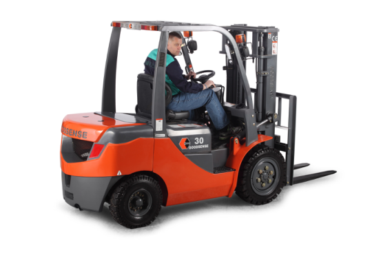Forklift with different attachment