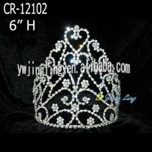 6'' Heart Rhinestone Princess Pageant Crowns