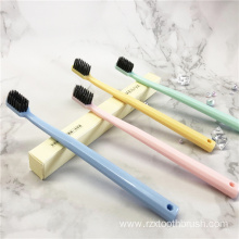Bamboo Charcoal plain color Toothbrush