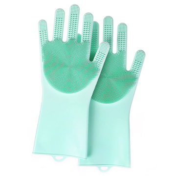 Magic Silicone Gloves With Wash Scrubber Wholesale