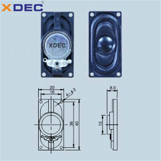 ABS housing 8ohm 1w 4ohm 2w 2040 speaker