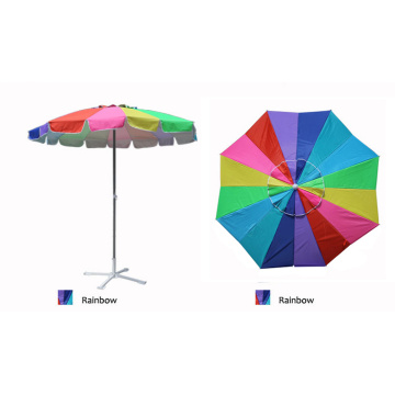 Wholesale Rainbow Multi Color Patio Beach Umbrella
